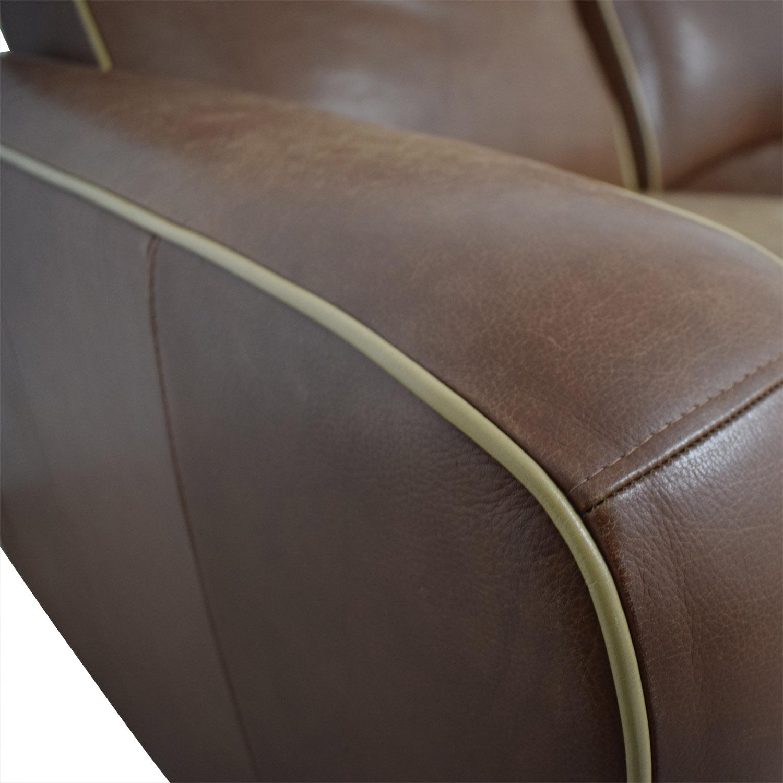 Leggett & Platt Leggett & Platt Custom Brown Loveseat Recliner Chairs