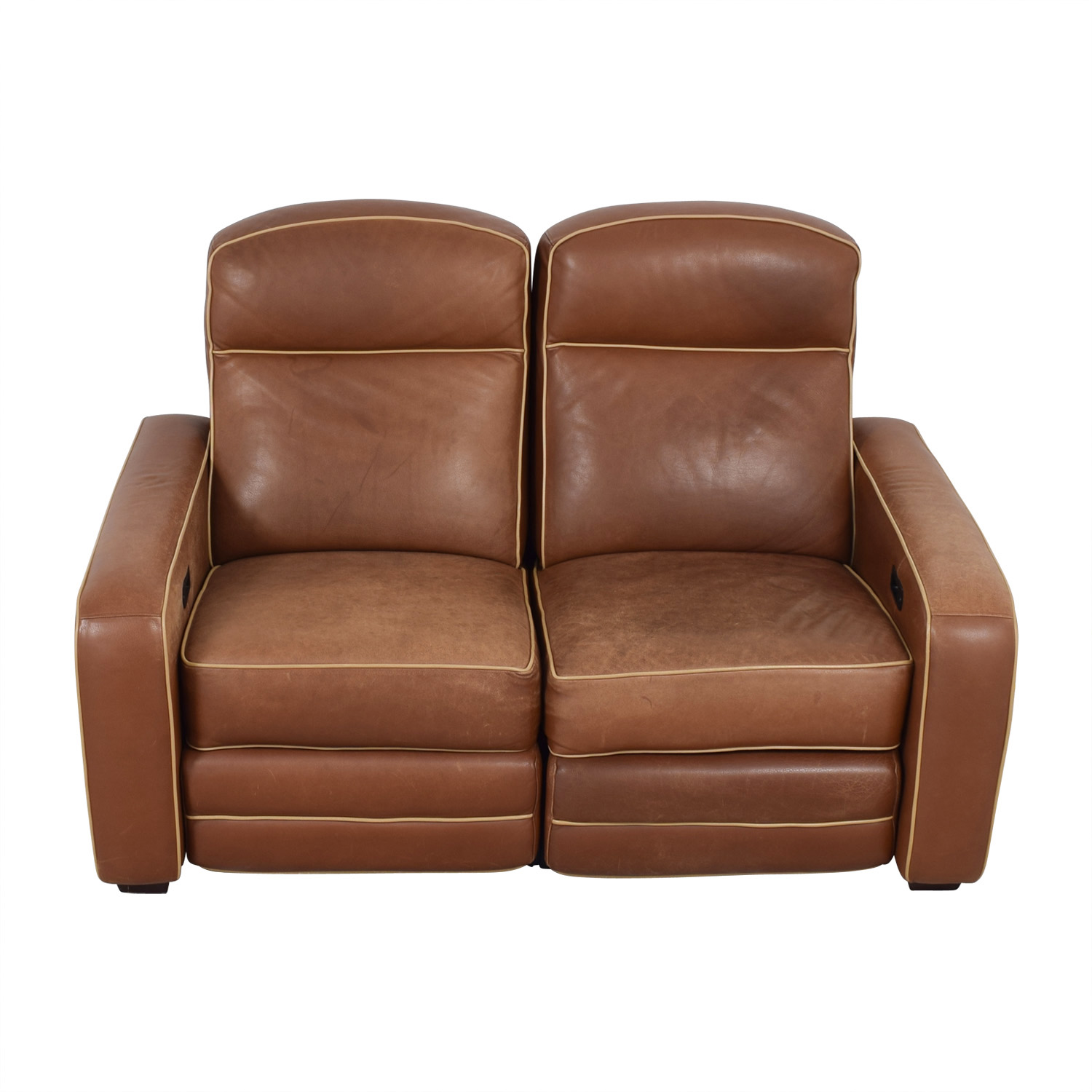 buy Leggett & Platt Custom Brown Loveseat Recliner Leggett & Platt