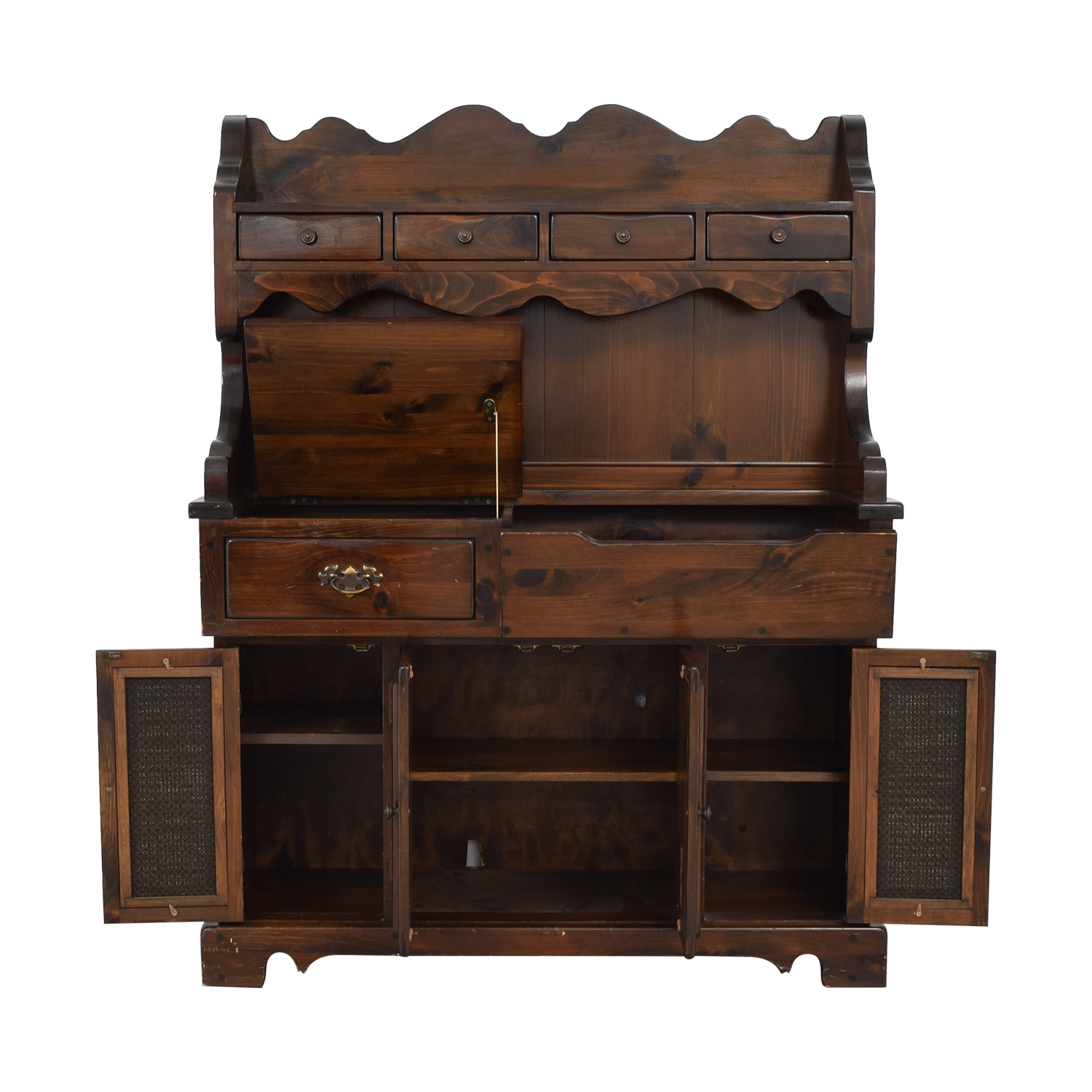 Bennington Pine Bennington Pine Dry Sink Entertainment Cabinet for sale