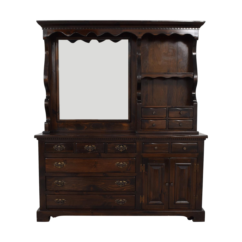 buy Bennington Pine Bedroom Dresser with Mirror Bennington Pine Dressers