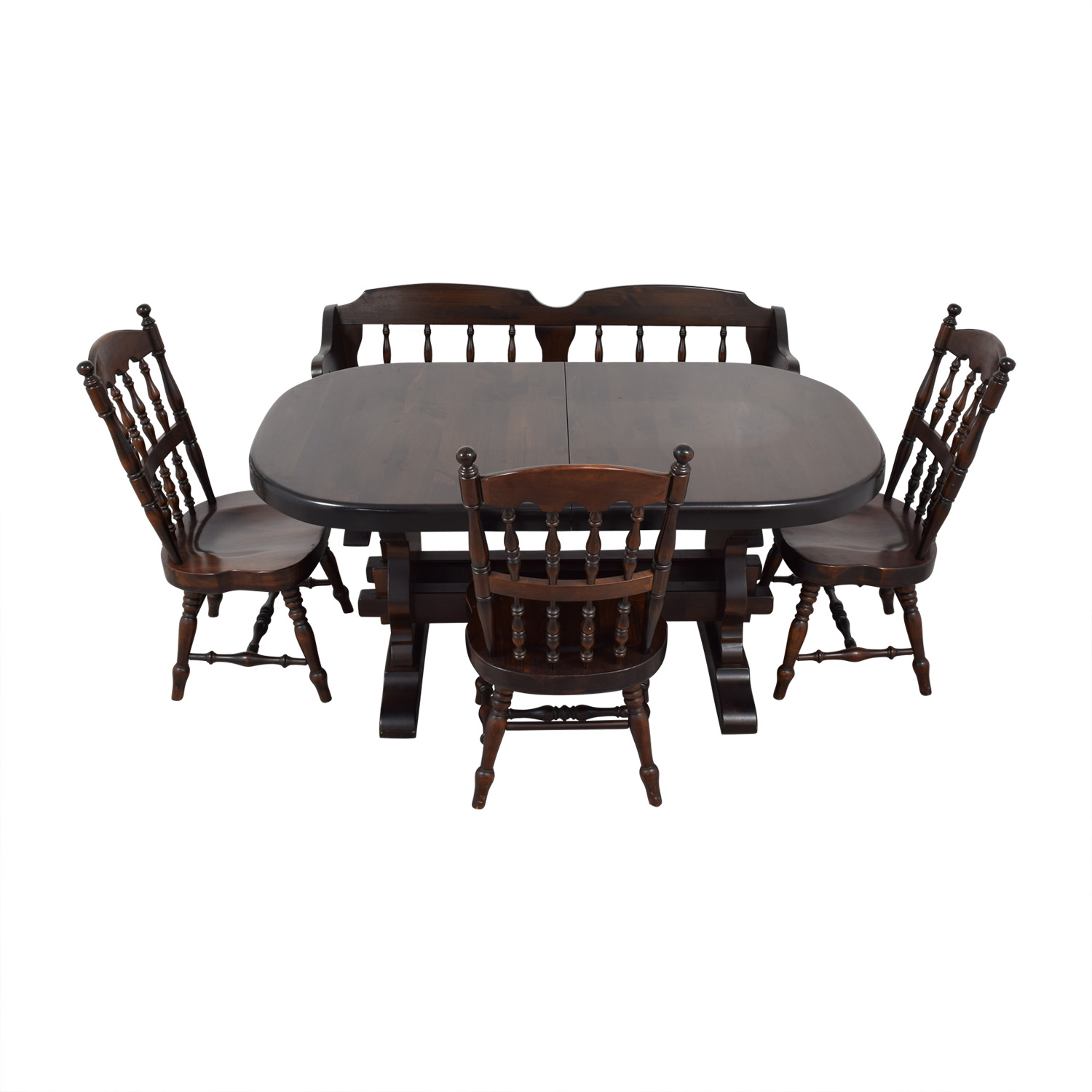 buy Bennington Pine Bennington Pine Extendable Dining Set online