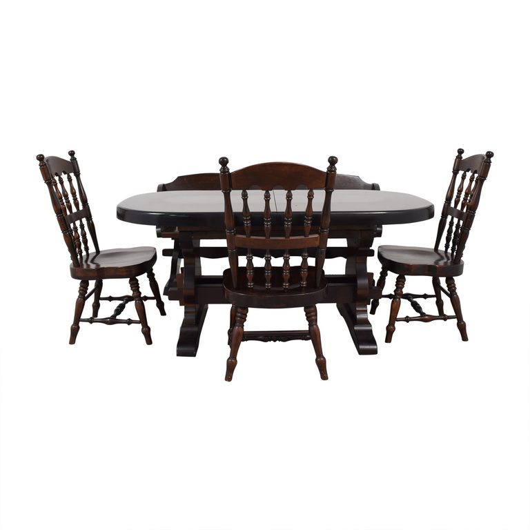 Bennington Pine Bennington Pine Extendable Dining Set discount