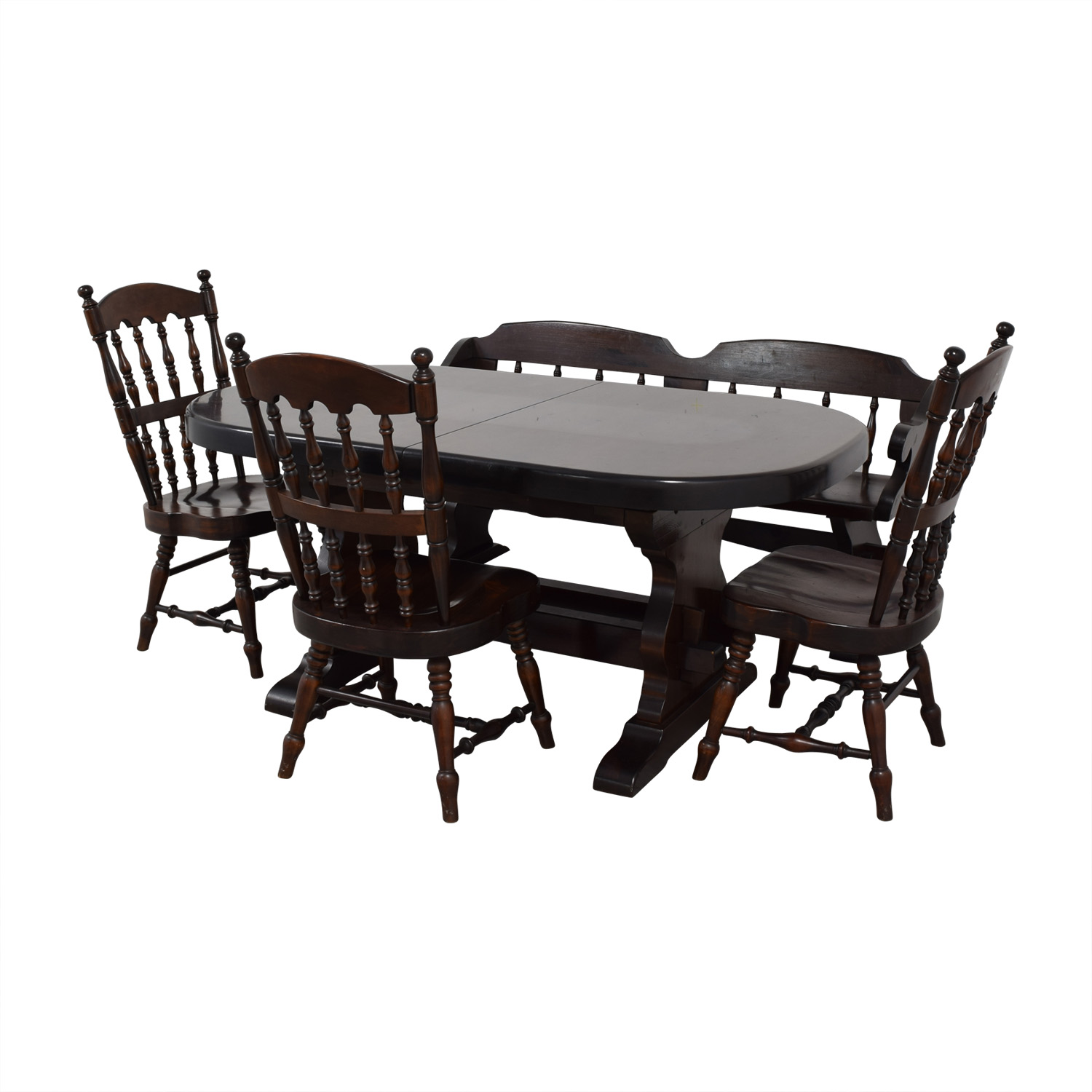 90% OFF   Bennington Pine Bennington Pine Extendable Dining Set / Tables