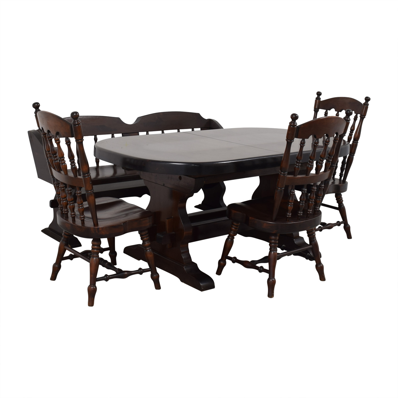 Bennington Pine Bennington Pine Extendable Dining Set dimensions