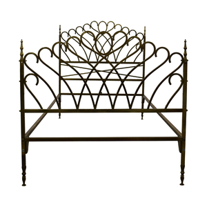 buy Scrolled Brass Twin Bed Frame