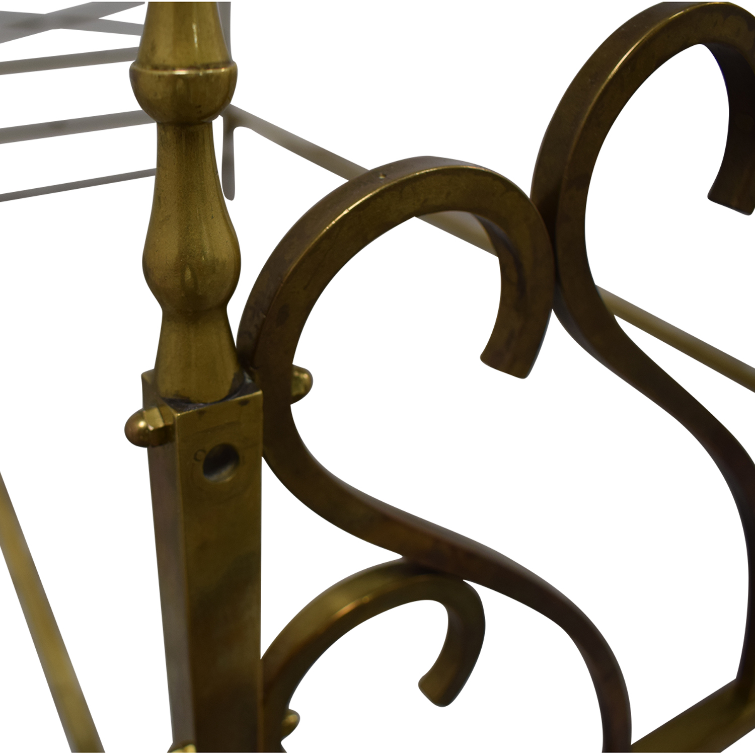 Scrolled Brass Twin Bed Frame brass