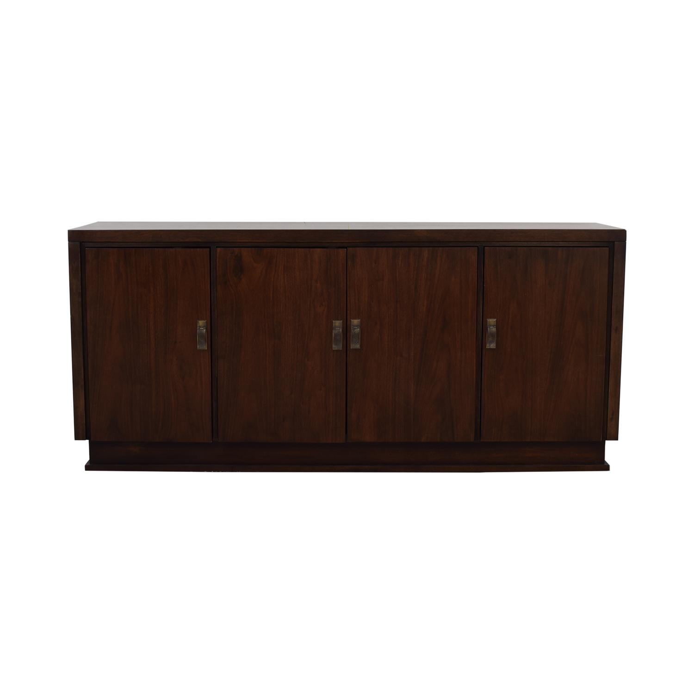 Bernhardt Bernhardt Wood Single Drawer Sideboard dark brown