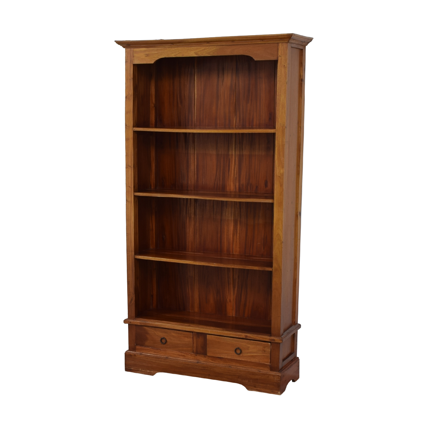 shop Tall Wood Bookcase with Two Drawers