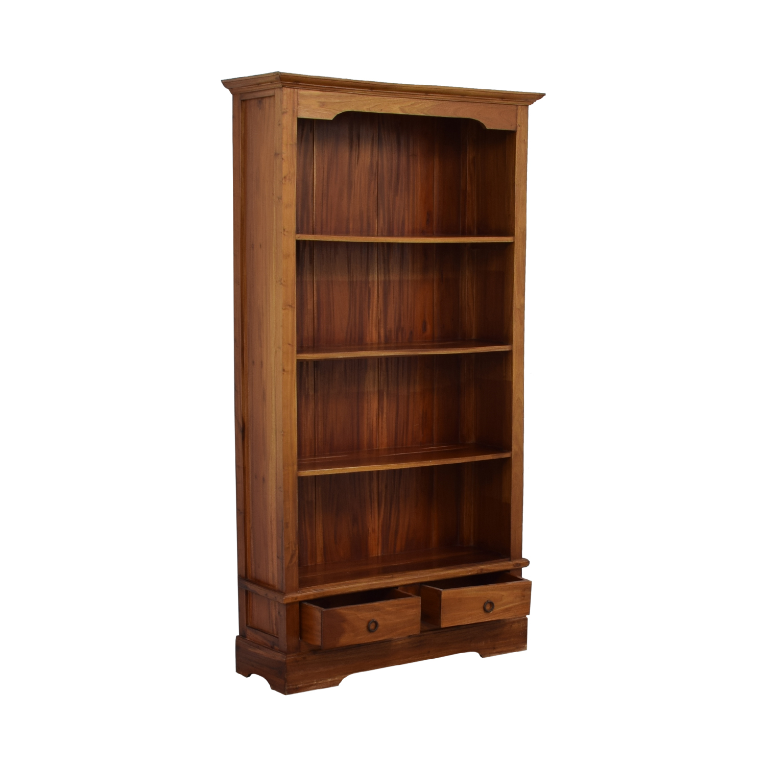 shop Tall Wood Bookcase with Two Drawers  Storage