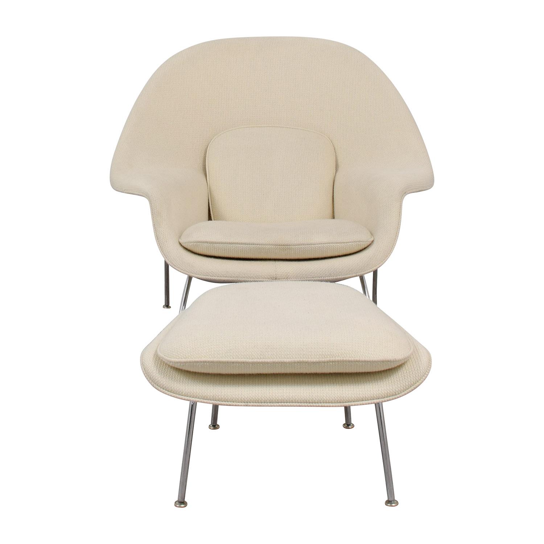 Knoll Eero Saarinen Womb Chair and Womb Ottoman sale