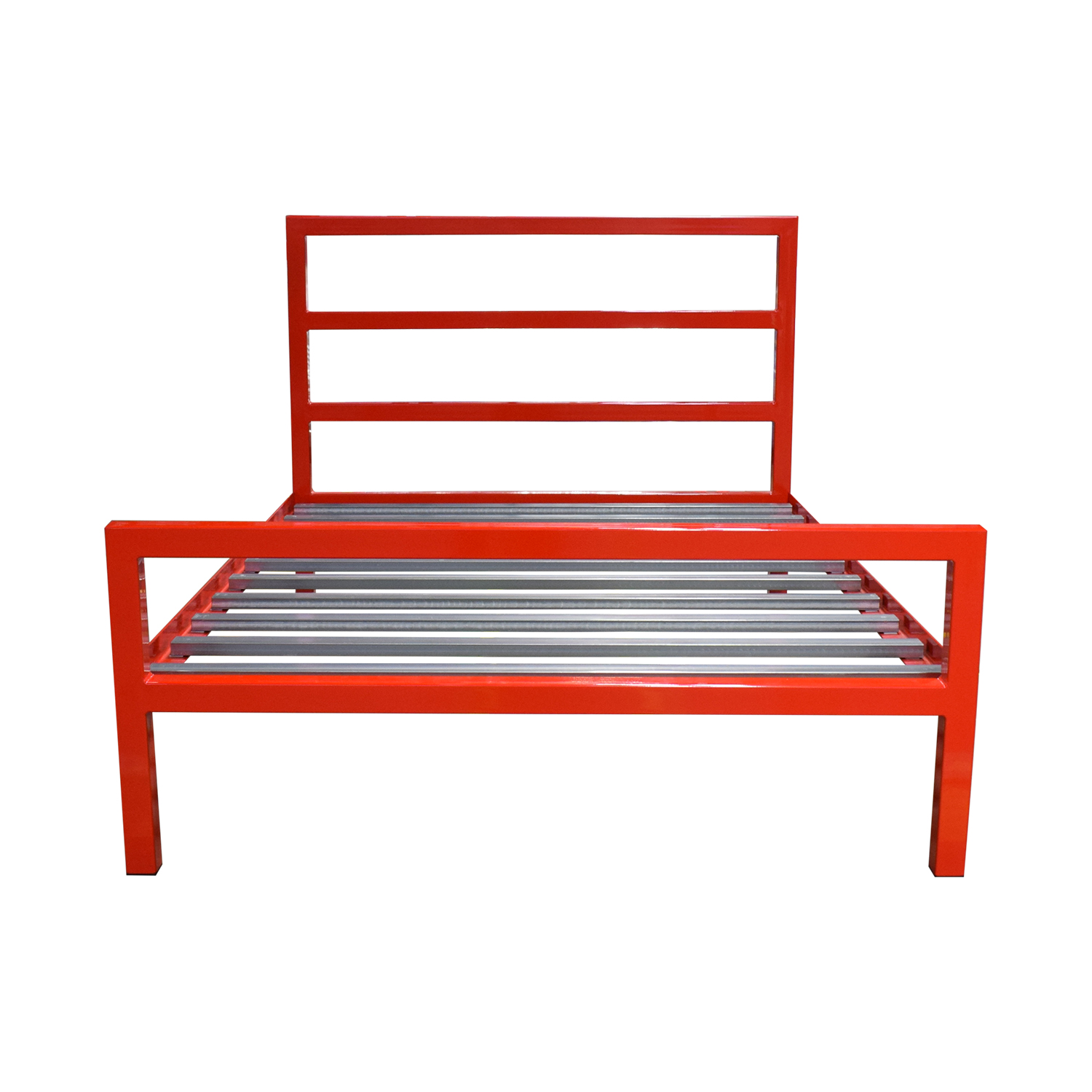 Room & Board Room & Board Parsons Red Full Bed Frame used