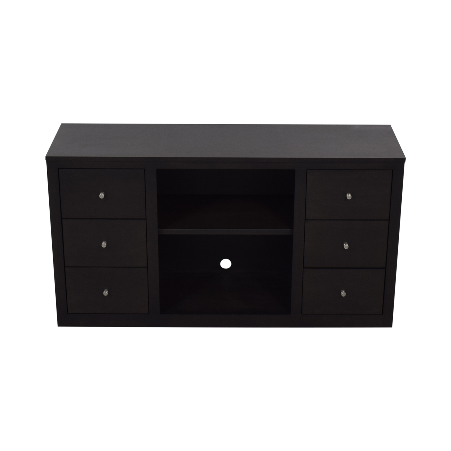 Room & Board Woodwind Maple With Charcoal Stain Media Cabinet sale