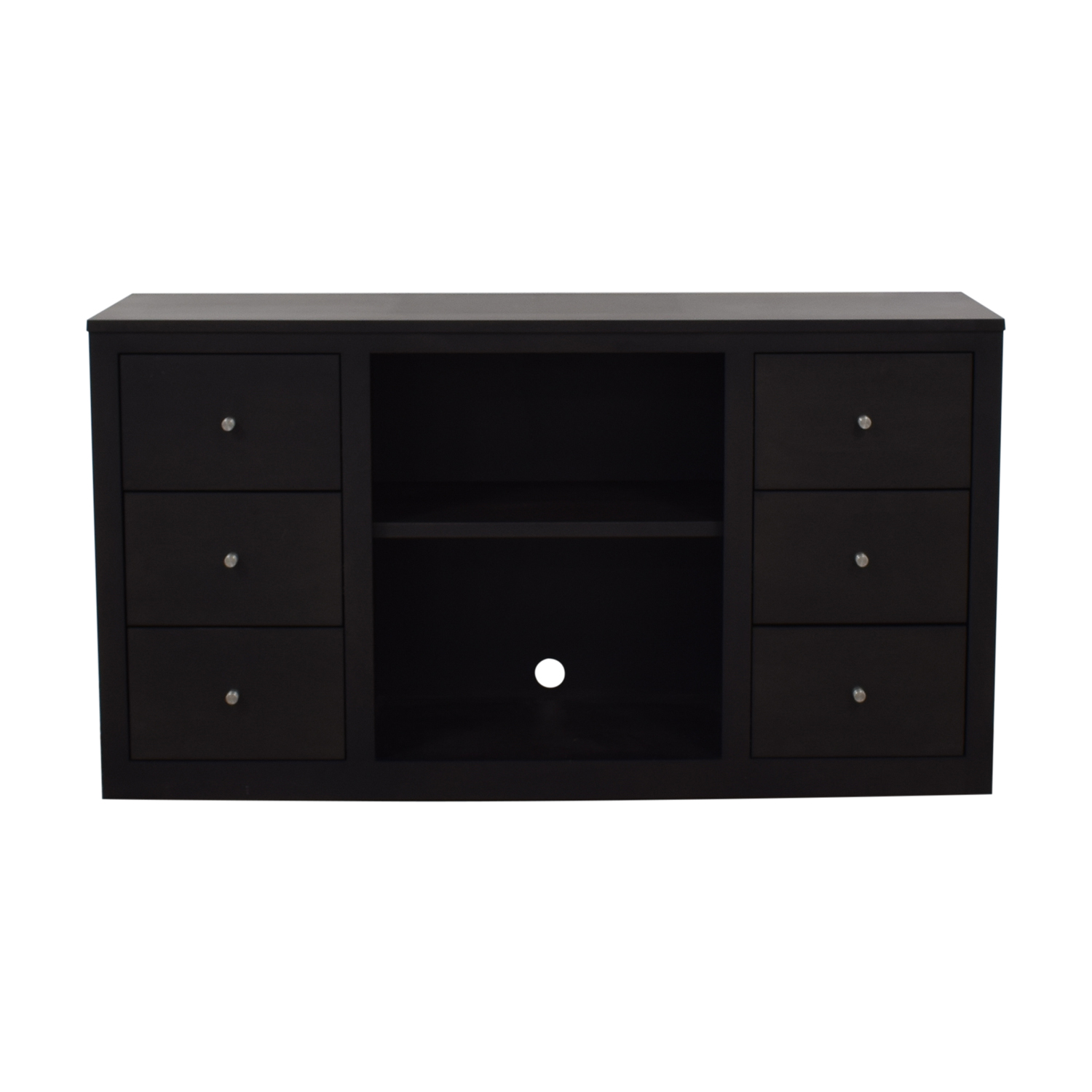 buy Room & Board Room & Board Woodwind Maple With Charcoal Stain Media Cabinet online
