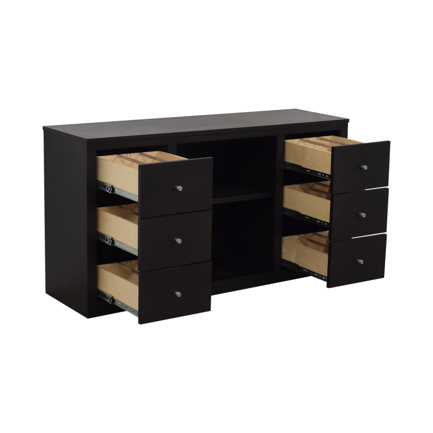 Room & Board Room & Board Woodwind Maple With Charcoal Stain Media Cabinet black