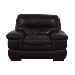 Bob's Discount Furniture Bob's Discount Furniture Brown Leather Accent Chair
