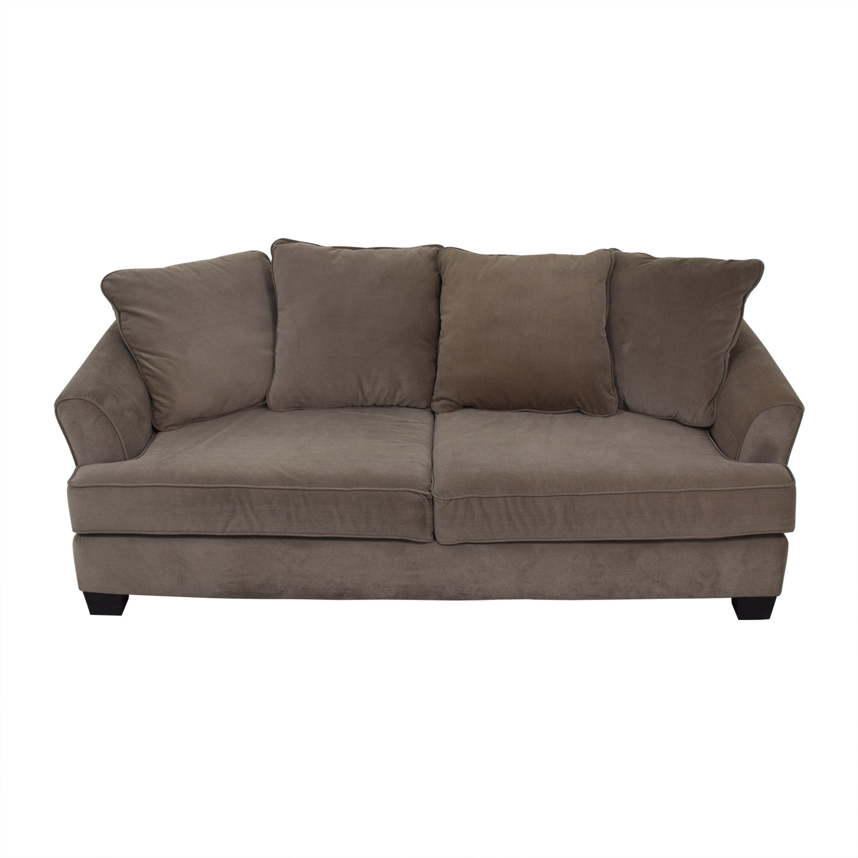 Raymour & Flanigan Raymour & Flanigan Chenille Gray Two-Cushion Coach nj