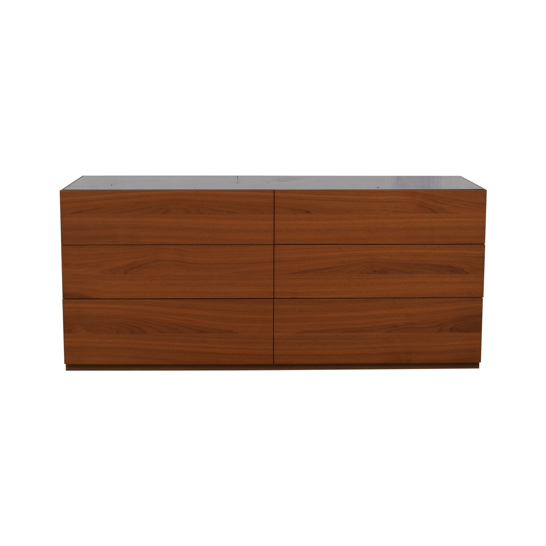 shop Calligaris Calligaris City Walnut Finish Six-Drawer Dresser online