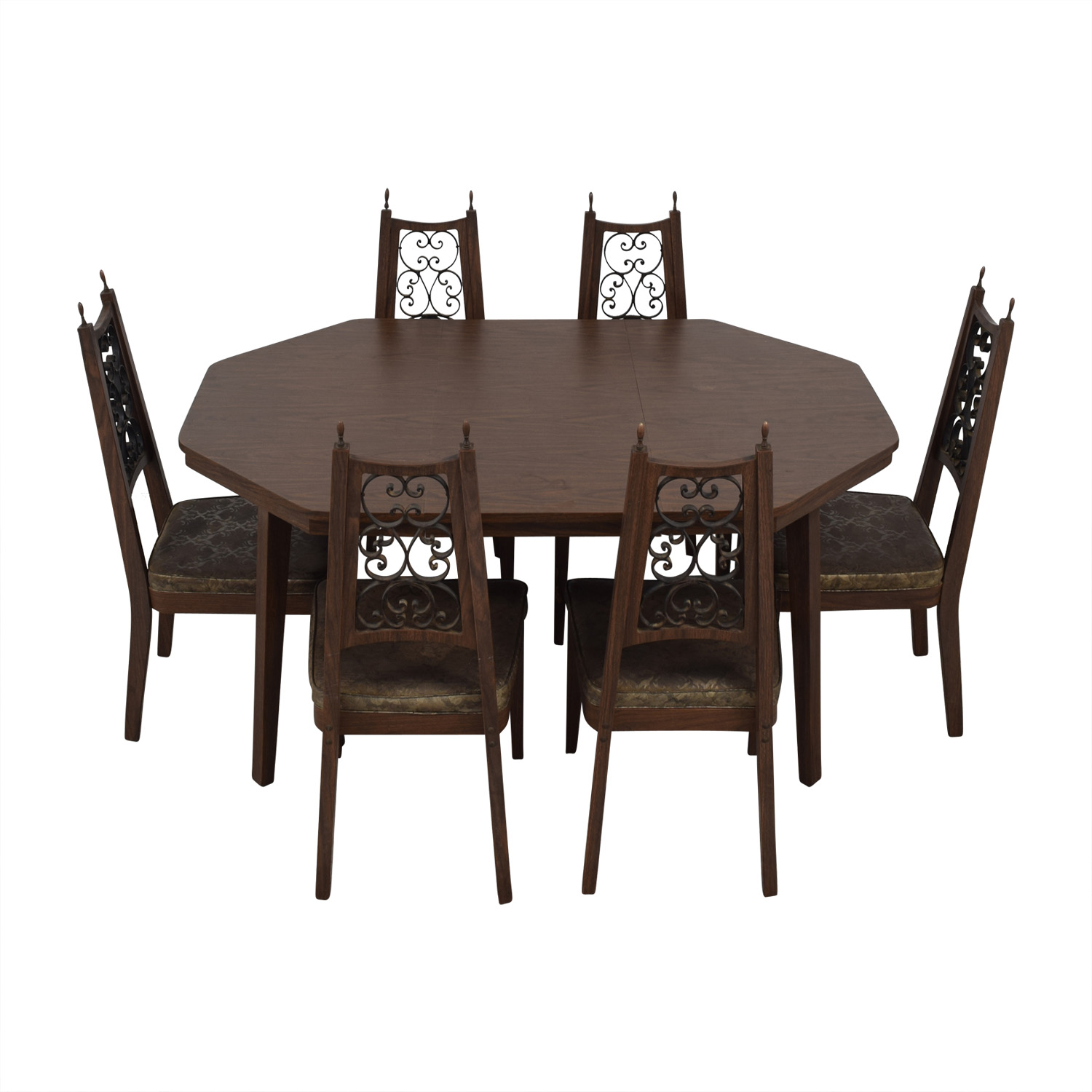 Octagon Extendable Leaf Dining Set on sale