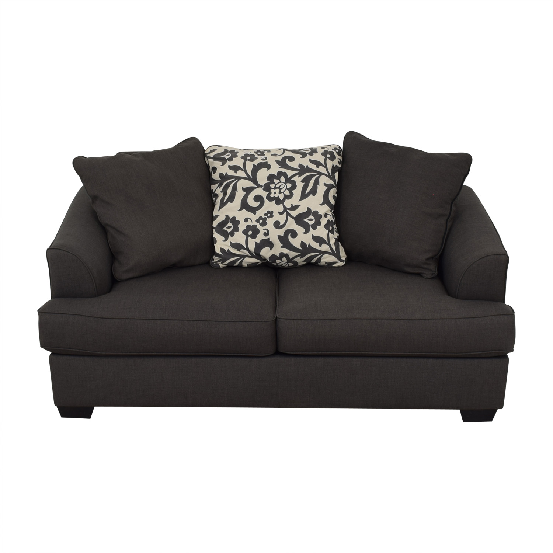 shop Raymour & Flanigan Dark Grey Sofa Raymour & Flanigan Classic Sofas