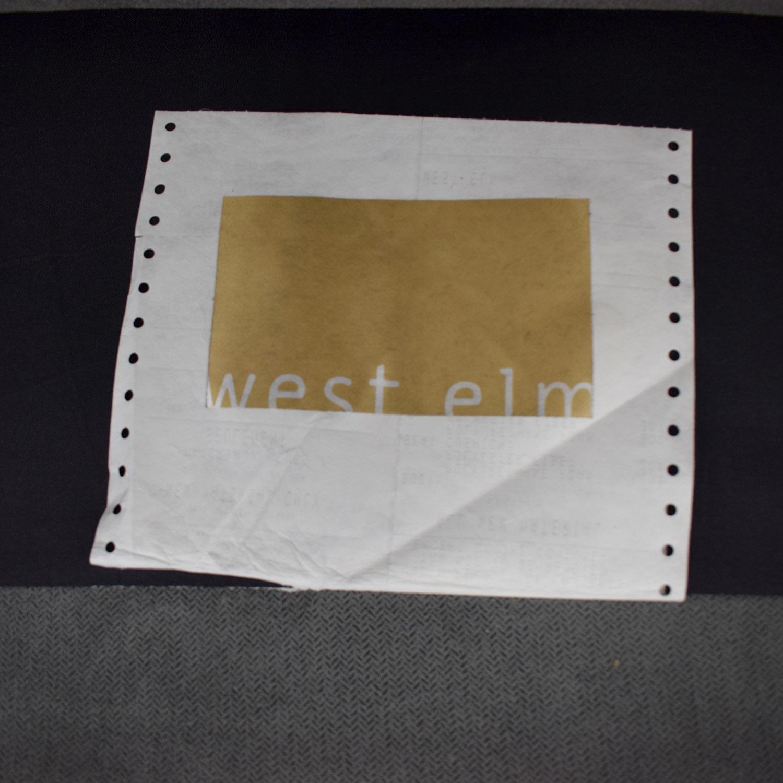 West Elm Chester Tufted Grey Single Cushion Sofa / Classic Sofas