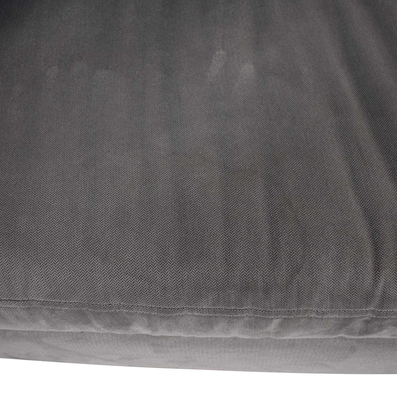 West Elm West Elm Chester Tufted Grey Single Cushion Sofa Sofas