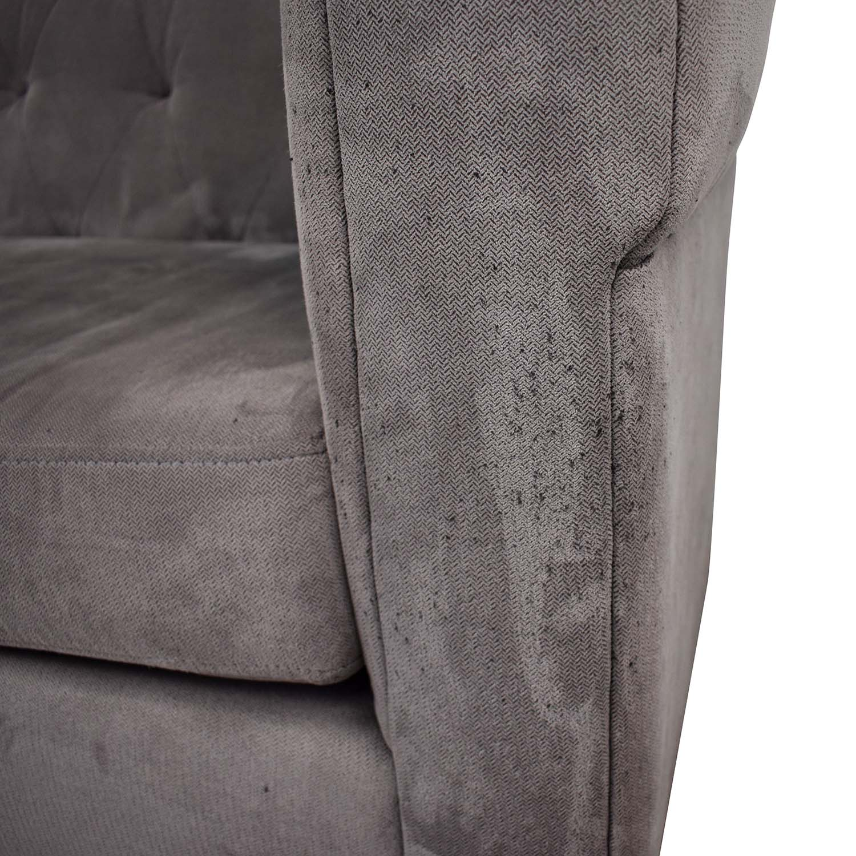 West Elm West Elm Chester Tufted Grey Single Cushion Sofa used