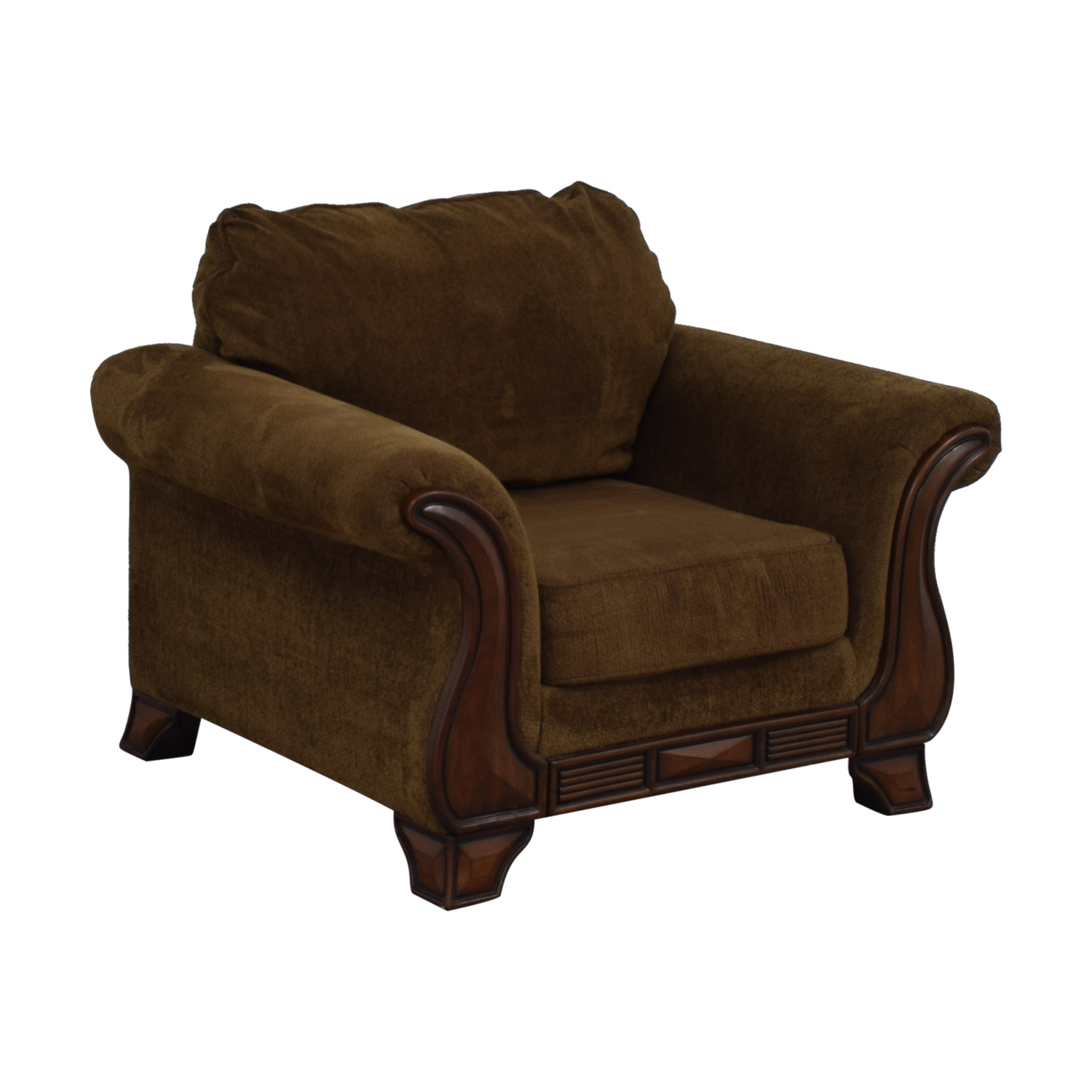76% OFF   Jennifer Furniture Jennifer Convertible Montgomery Brown Accent  Chair / Chairs