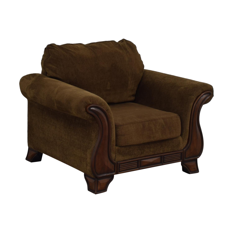 buy Jennifer Convertible Montgomery Brown Accent Chair Jennifer Convertible Chairs
