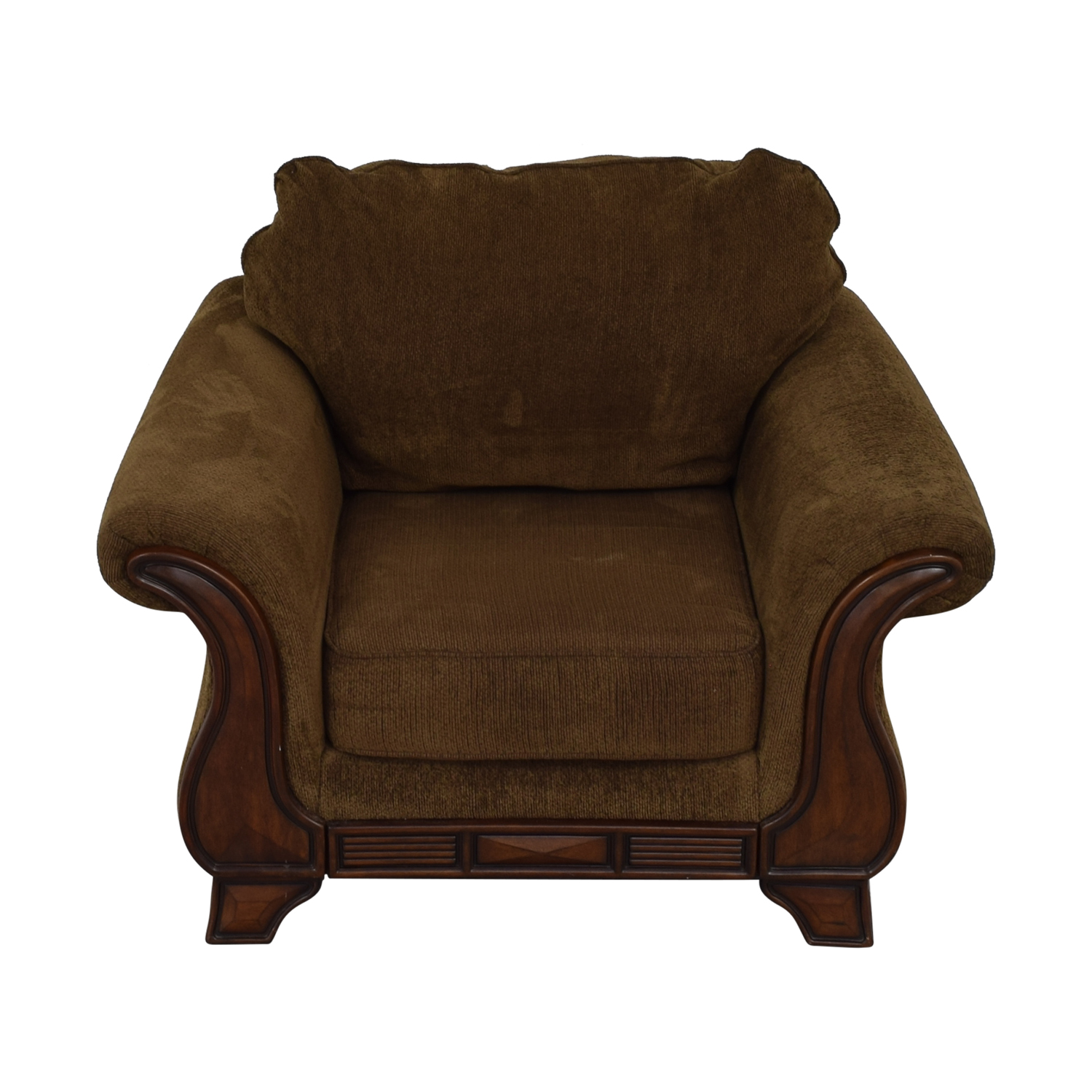 buy Jennifer Convertible Montgomery Brown Accent Chair Jennifer Convertible