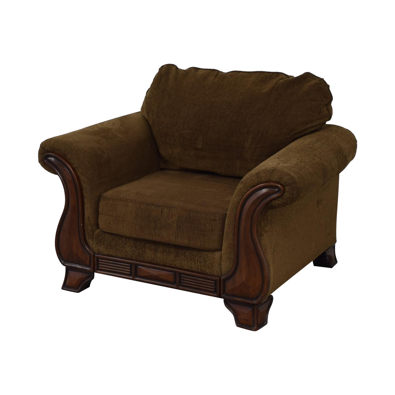 buy Jennifer Convertible Jennifer Convertible Montgomery Brown Accent Chair online