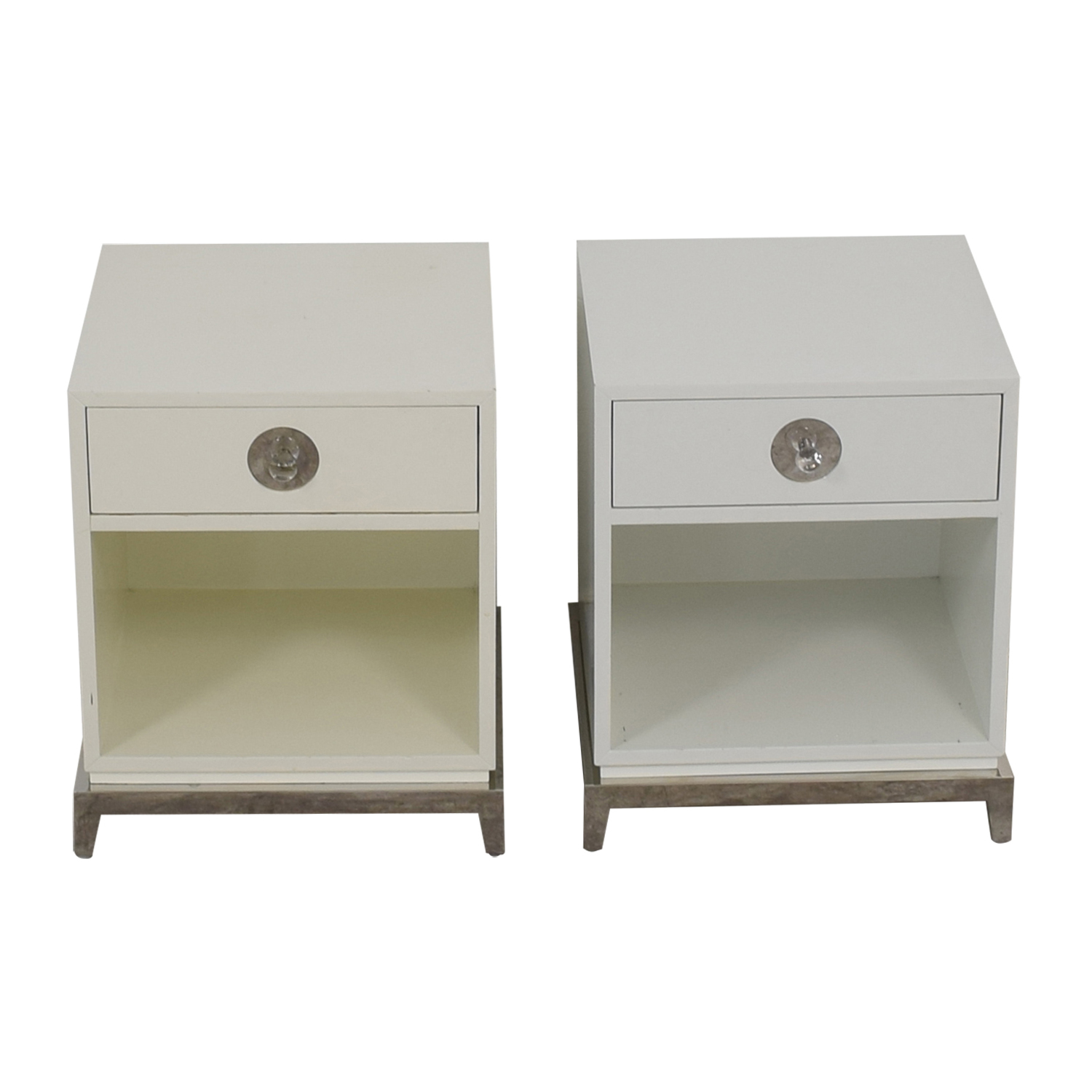 Jonathan Adler Jonathan Adler Single Drawer White End Tables