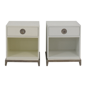 Jonathan Adler Jonathan Adler Single Drawer White End Tables dimensions