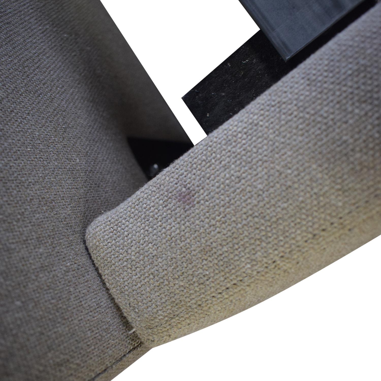 Room & Board Room & Board Grey Upholstered Queen Platform Bed Frame for sale