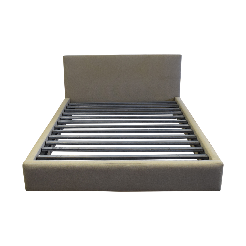 Room & Board Room & Board Grey Upholstered Queen Platform Bed Frame nyc