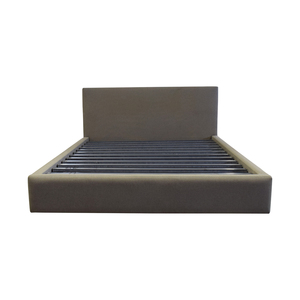 Room & Board Room & Board Grey Upholstered Queen Platform Bed Frame second hand