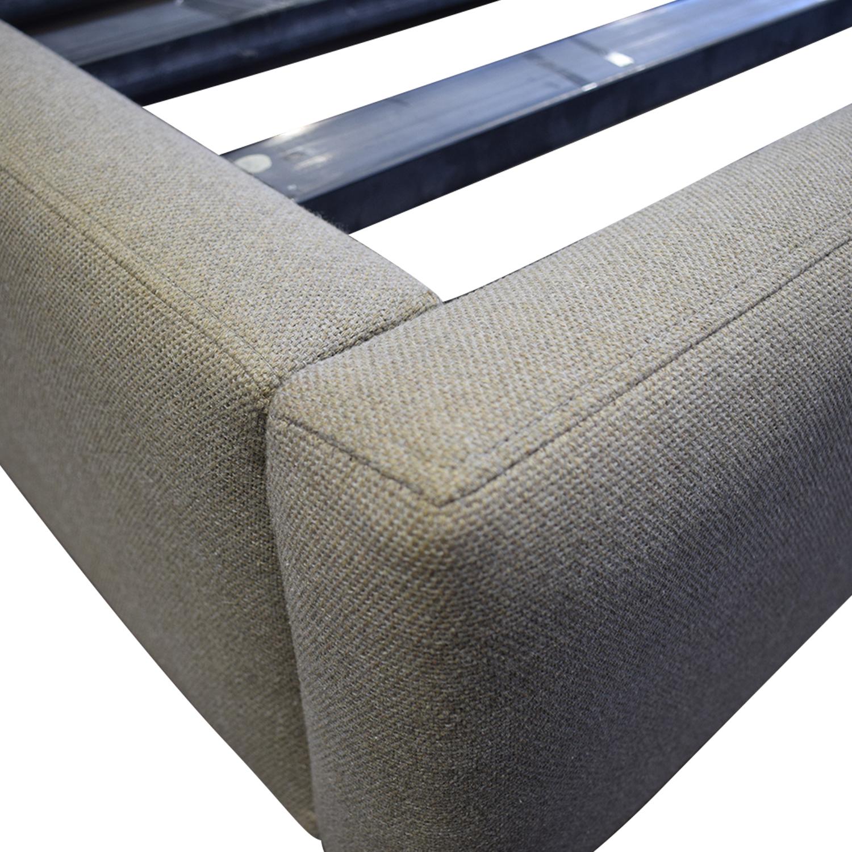 shop Room & Board Grey Upholstered Queen Platform Bed Frame Room & Board Beds