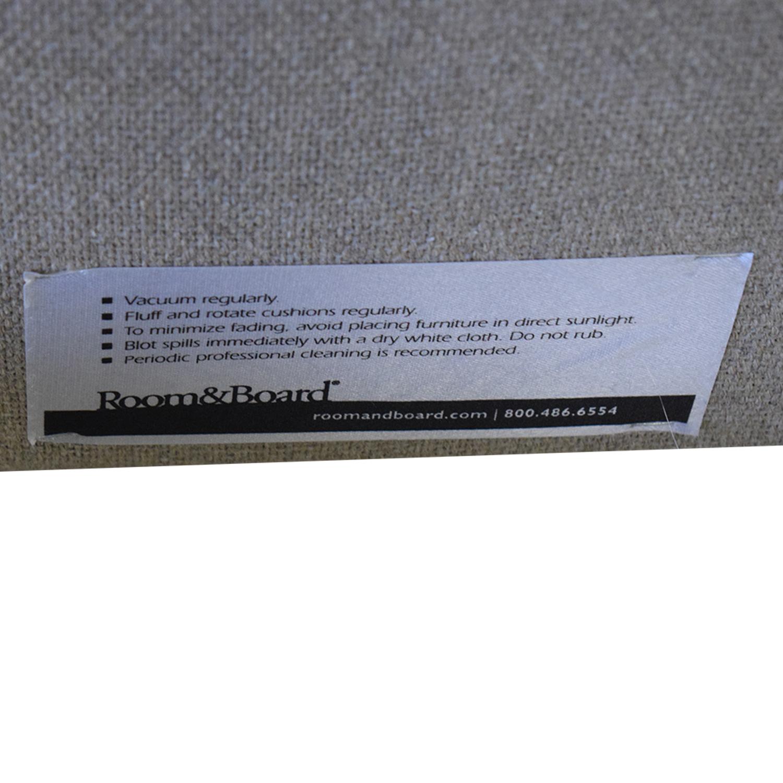 Room & Board Grey Upholstered Queen Platform Bed Frame / Bed Frames