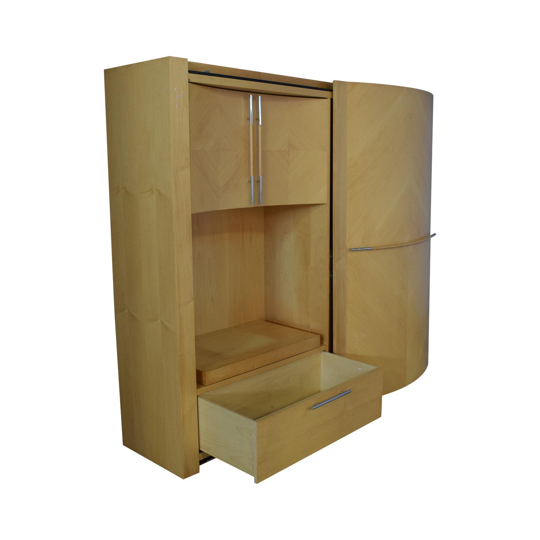 buy Maurice Villency Dual Wall Unit Maurice Villency Storage