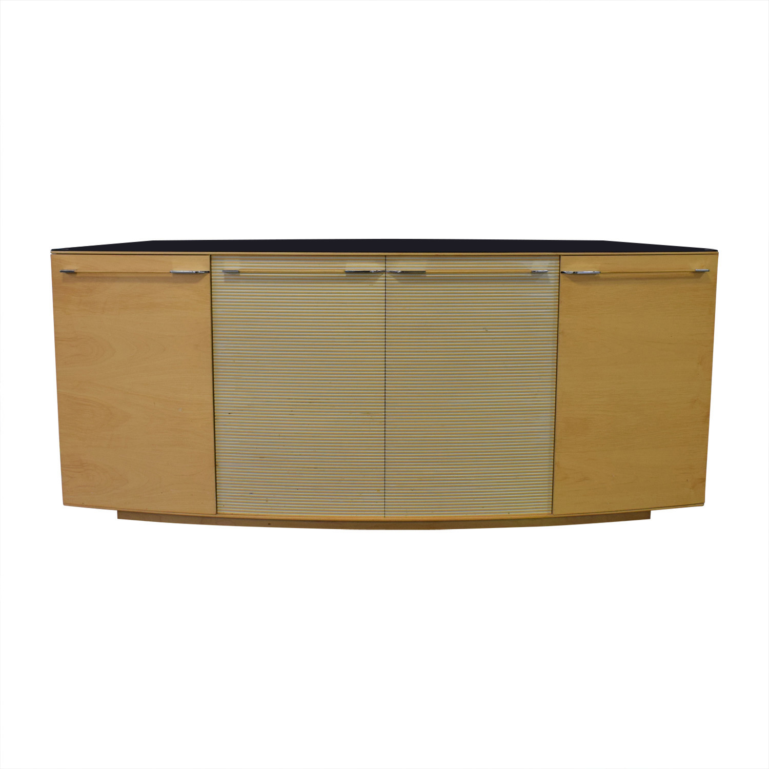 Maurice Villency Maurice Villency Ona Maple Four-Drawer Shelving Sideboard discount