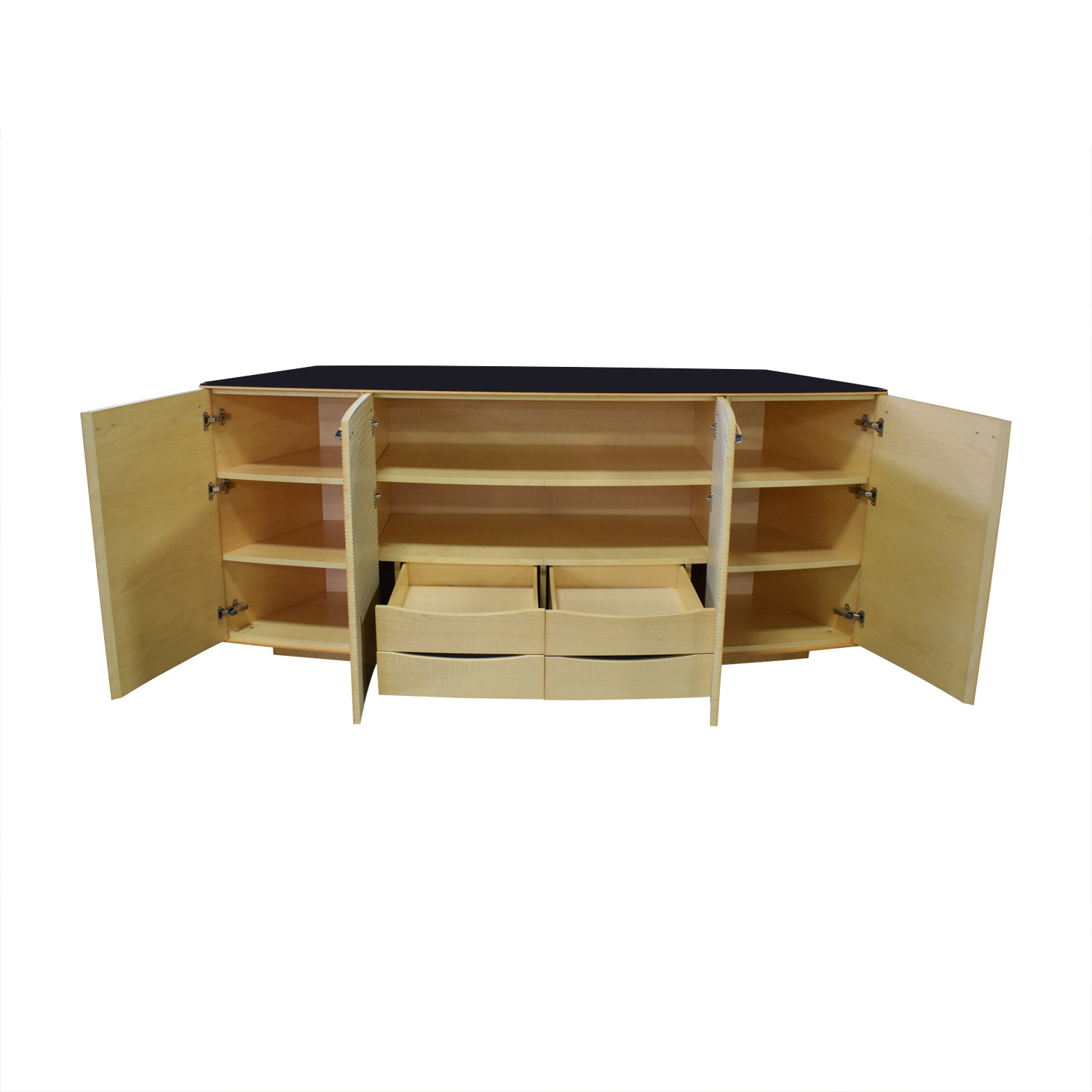 shop Maurice Villency Ona Maple Four-Drawer Shelving Sideboard Maurice Villency