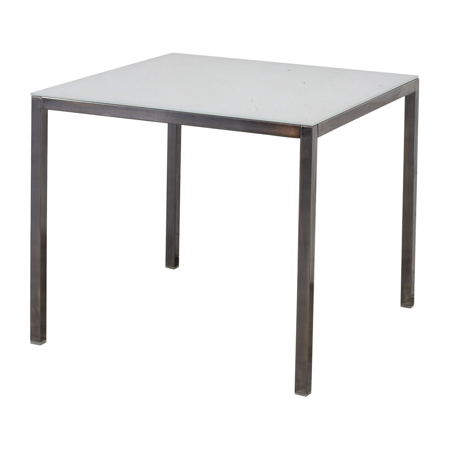 White Glass Dining Table on sale