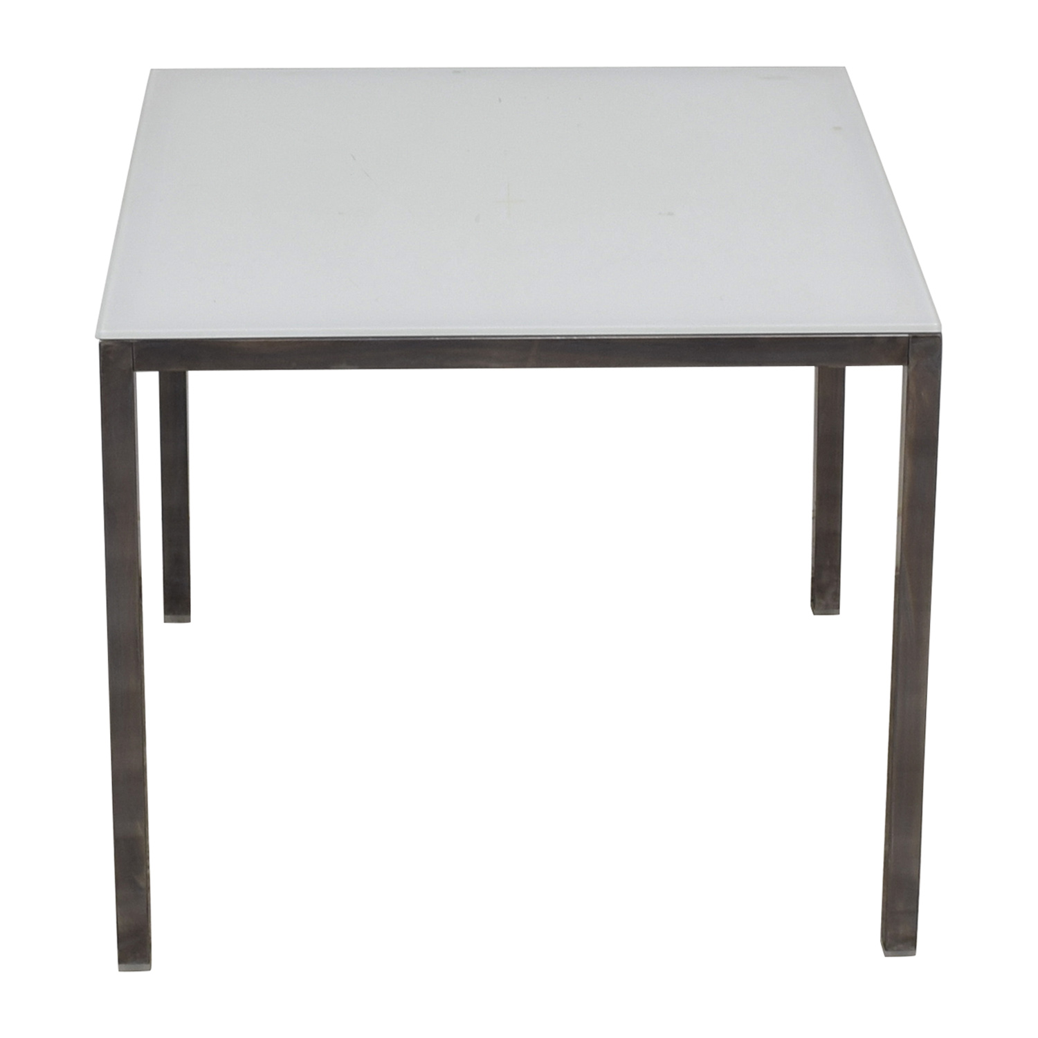 White Glass Dining Table for sale