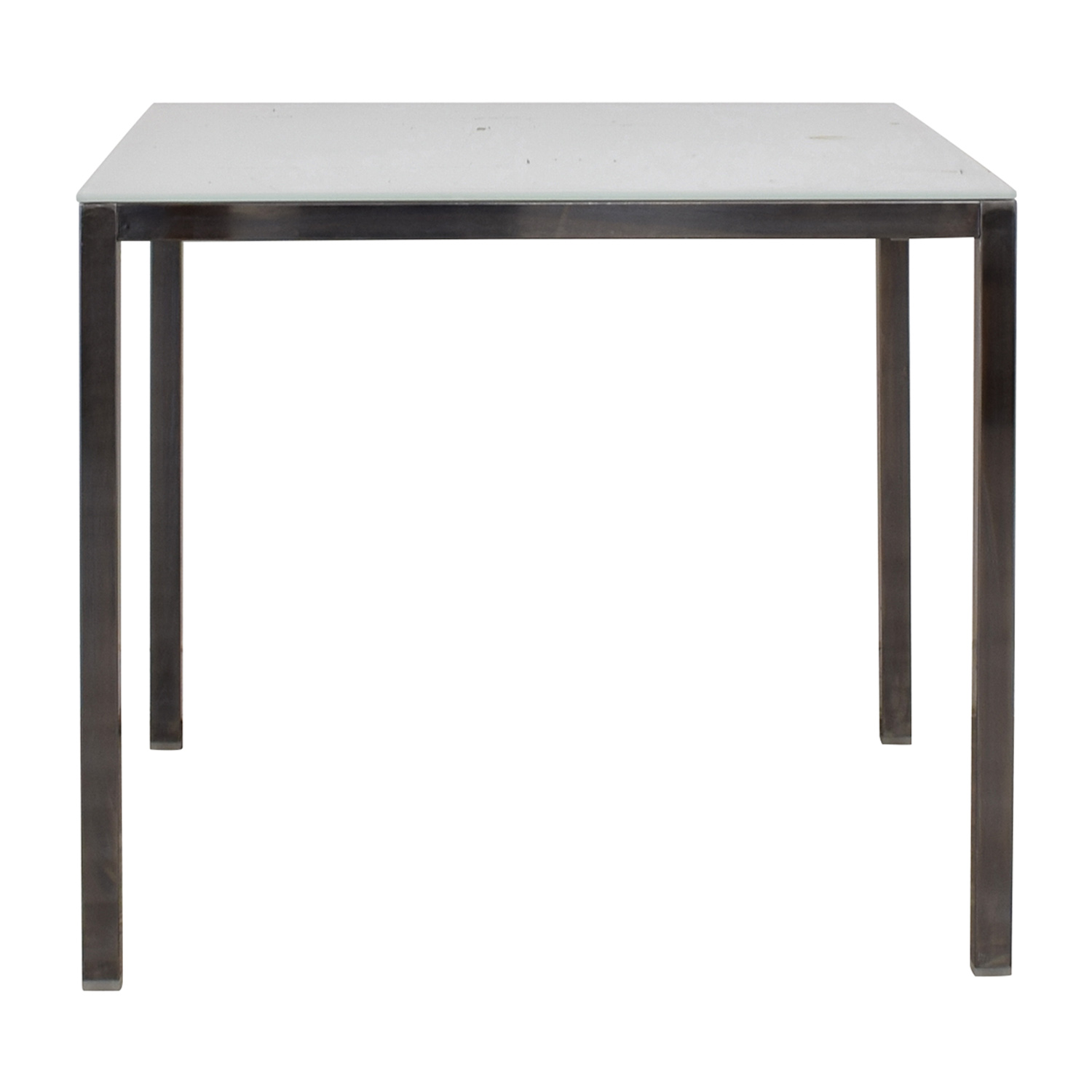 White Glass Dining Table nyc