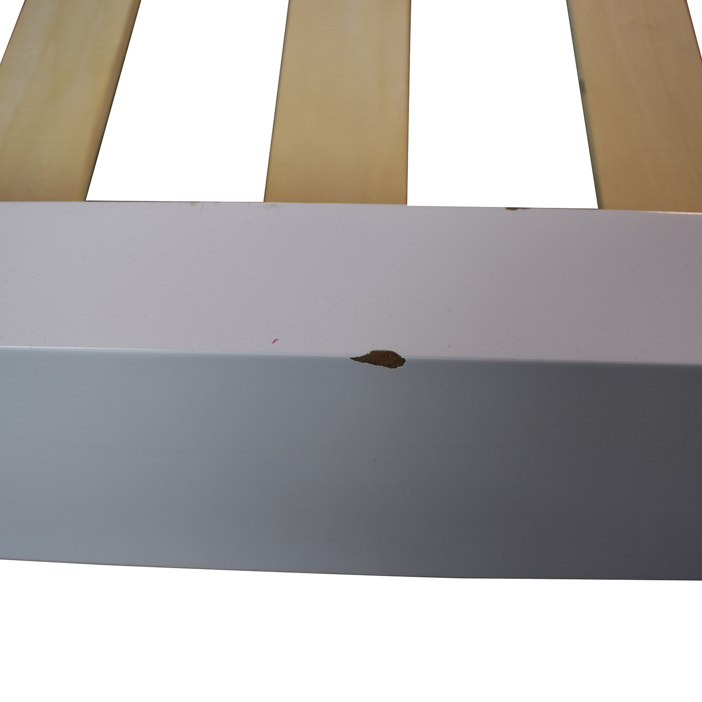 Ashley Furniture Ashley Furniture White Tufted King Bed Frame discount