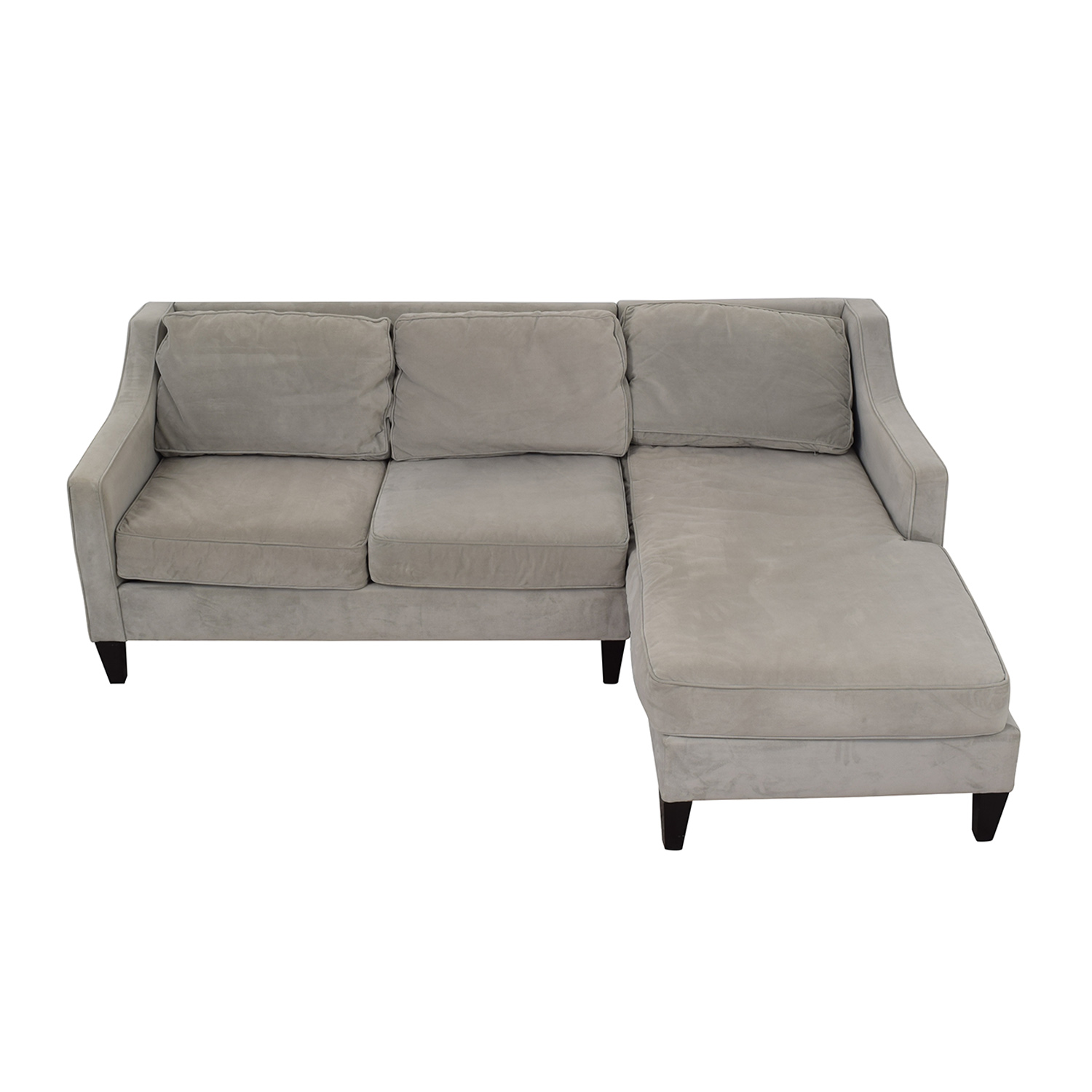 West Elm Paige Grey Chaise Sectional West Elm