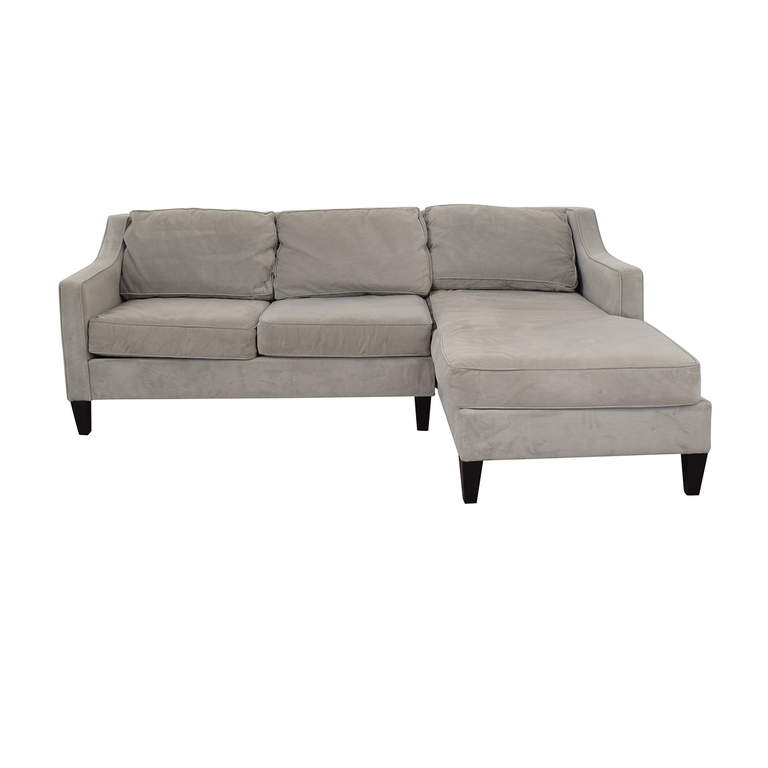 West Elm Paige Grey Chaise Sectional / Sofas