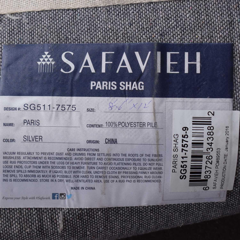 buy Safavieh Silken Glam Paris Shag Silver Rug Safavieh Rugs