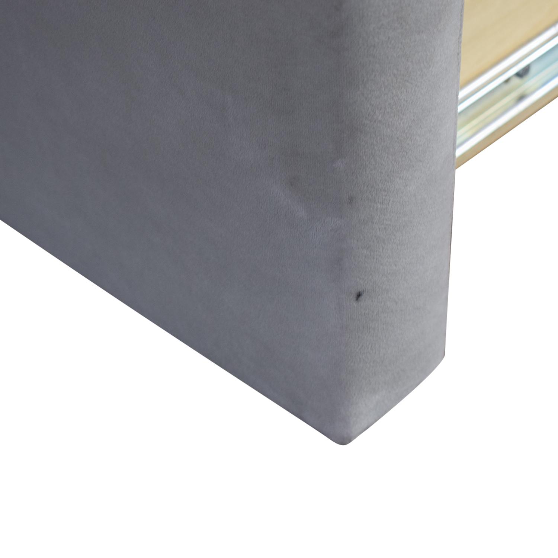 Room & Board Grey Queen Wyatt Bed with Storage Drawer Room & Board