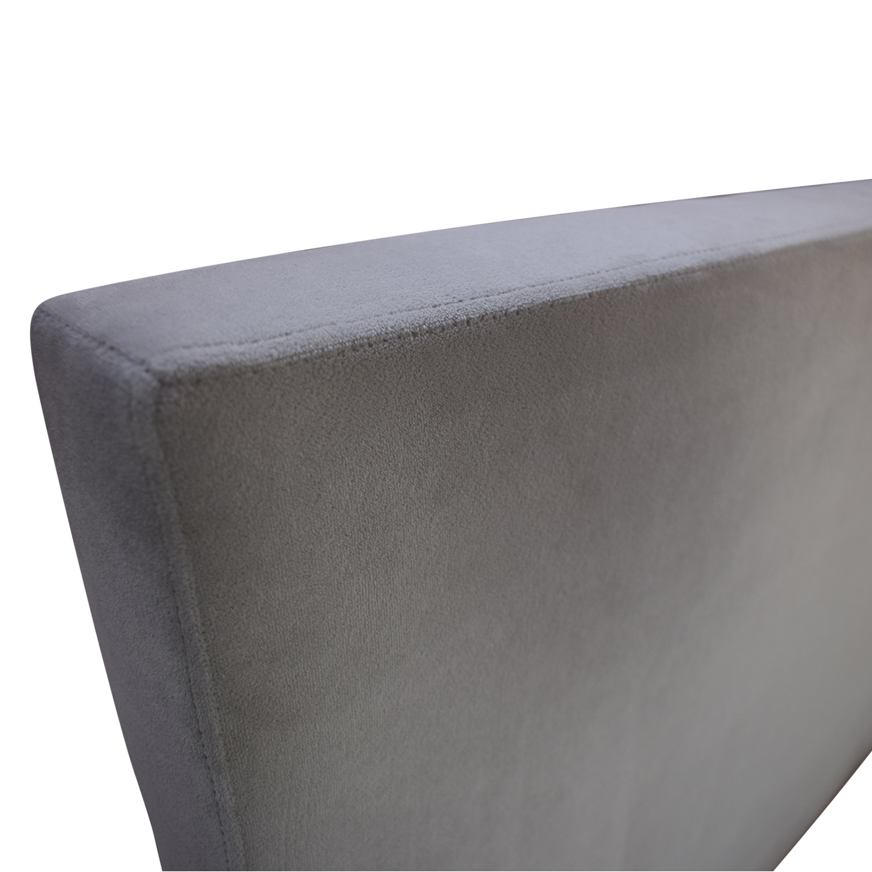 shop Room & Board Grey Queen Wyatt Bed with Storage Drawer Room & Board Bed Frames
