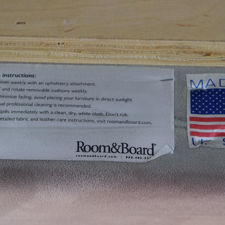 buy Room & Board Grey Queen Wyatt Bed with Storage Drawer Room & Board Beds